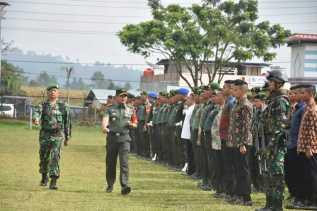 Korem 023/KS Gelar Pasukan Sambut Kunker Presiden Jokowi di Tapanuli, Ini Amanat Pangdam I/BB