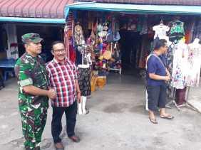 Komsos di Pasar Buah Berastagi, Ini yang Disampaikan Dandim 0205/TK