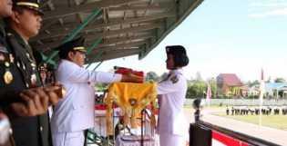 Bupati Karo Pimpin Peringatan Detik-detik Proklamasi Kemerdekaan ke 74 RI