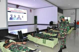 Sambut HUT TNI Ke 76, Korem 023/KS Gelar Donor Darah