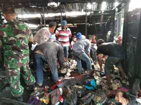 Polsek Tiga Panah Lidik Rumah yang Terbakar di Desa Sampun