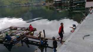 Para Pemancing Ikan di Danau Toba, Desa Tongging, Bantu Tobing: Mudah - mudahan Dapat Ikan
