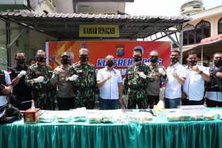 Kapolda Sumut Pimpin Press Release 15 Kg Sabu yang Berhasil Diungkap Polres Labuhanbatu
