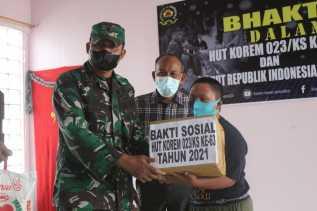 Sambut HUT Korem 023/KS , Kodim 0205/TK Gelar Bhakti Sosial Di Alpha Omega