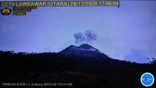 Gunung Sinabung Kembali Erupsi Dengan Ketinggian 500 Meter, Dasatgas; Jangan Masuk Zona Merah