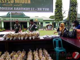 Sambut HUT TNI 72, Warga Dapat Paket Pasar Murah dari Kodim 0212/TS