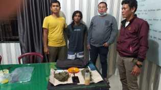 Nyak Ditangkap Polsek Tigabinanga di Simpang Perlamben, Terkait Ganja