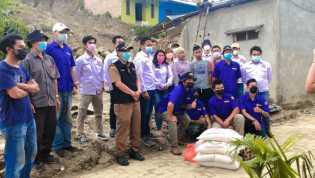 PAC Pospera Kabanjahe Serahkan Langsung Bantuan Kepada Keluarga Korban Longsor
