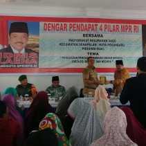 Ratusan Warga Ikut Dengar Pendapat 4 Pilar MPR RI di Sago