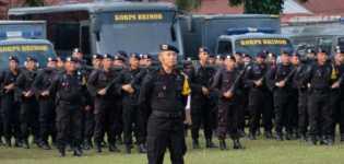 490 Personel Brimob Polda Riau Turut Amankan Pemilu 2019