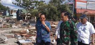 Korban 668 Jiwa: Presiden Jokowi Tinjau Lokasi Gempa, Sulteng (Palu)