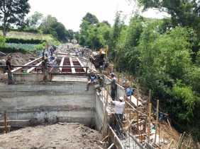 Satgas TMMD ke 107 Bangun Jembatan di Kacaribu Hampir 100 Persen, Ini Kata Danramil 05/PY