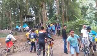 Upt Tahura Tidak Peduli Dengan Prokes , Kegiatan Even Balap Sepeda Undang Kerumunan