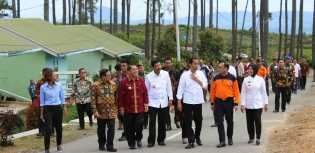 Jokowi ke Karo, Tinjau Relokasi Siosar dan Pulang dari Bandara Silangit