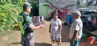 Jalin Sinegritas Bersama Warga Binaannya, Serka J Lingga Komsos di Desa Tiga Panah