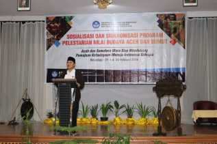 Bupati Karo Buka Sosialisasi dan Sinkronisasi Program Pelestarian Nilai Budaya Aceh dan Sumut