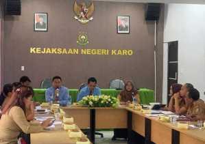 Rapat Forum Koordinasi Pengawasan dan Pemeriksaan Kepatuhan Kabupaten Karo Digelar di Kejari