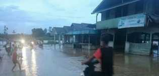 Sungai Batang Batahan Meluap, Puluhan Rumah Direndam Banjir di Pasaman Barat