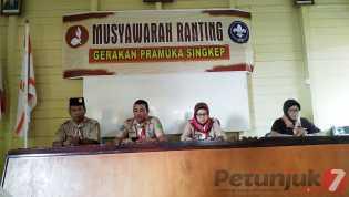 Yunita Karnella Jabat Ketua Gerakan Pramuka Kwarran Singkep Periode 2019 - 2022