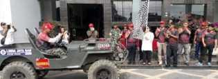 Wakil Bupati Lepas 60 Mobil Lomba Offroad di Karo