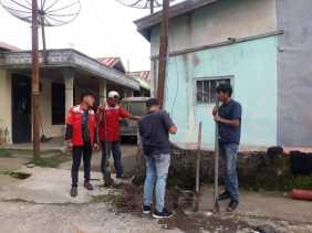 Telkom Kabanjahe Langsung Tanggapi Keluhan Masyarakat Soal Tiang Telkom Mau Tumbang