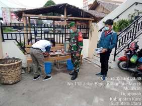 Dandim 0205/TK Letkol Kav Yuli Eko Hadiyanto Terus Sosialisasikan Prokes Melalui Babinsa