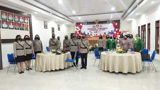 Hut Polwan 73 , Kapolres Karo AKBP Yustinus Setyo SH SIK: Laksanakan Tugas Dengan Baik Dimasa Pandem