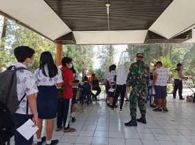 Dandim 0205/TK Perintahkan Babinsa Pantau Pembelajaran Tatap Muka