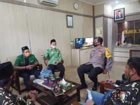 Jalin Tali Silaturahmi, PC- GP Ansor Berkunjung ke Polres Tanah Karo