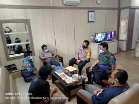 PC F SPTI K-SPSI Kabupaten Karo Serahkan SK Kemenkumham RI ke Kapolres