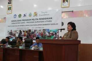 Sosialisasi Program Pelita Pendidikan Tanoto Foundation Dihadiri Wabub Karo