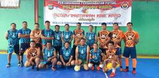 Polres Karo vs Wartawan Karo di  Futsal, Kapolres: Suatu Bentuk Kemitraan Polisi dan Insan Pers