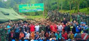 Sambut Hari Juang TNI - AD  2019, Kodim 0205/TK Gelar Penghijauan di Lereng Gunung Sibayak