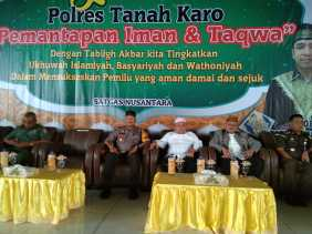 Tabligh Akbar di Karo, Wakapolres: Mari bersama TNI-Polri Jaga  Kamtibmas, Hoax dan ...