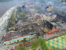 Pasar Lama Siak Kebakaran, Drs. H. Syamsuar, MSi Turut Prihatin