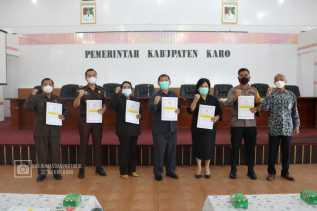 Bupati Karo Sampaikan SPT Tahunan 2020
