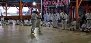 Karate Kala Hitam Pengda Karo, Dairi dan Pakpak Bharat Gelar UKT Pertama Tahun 2021
