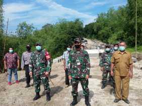 Didampingi Dandim, Kapendam I/BB Tinjau Sasaran Kerja Satgas TMMD 107 Kodim 0205/TK di Kacaribu