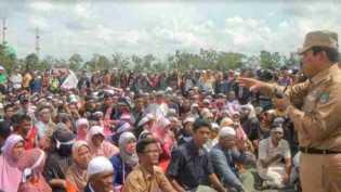 Tolak Pembangunan Bendungan, Warga di 4 Desa Unjuk Rasa ke Kantor Bupati Rohul