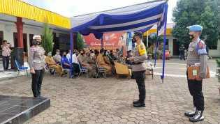 Kapolres Karo Pimpin Apel Gelar Pasukan Ops Lilin Toba 2020 dan Bacakan Amanat Kapolri