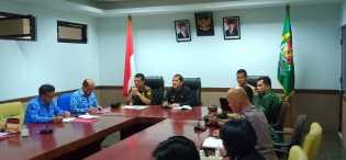 Bupati dan Tim Monev Dengarkan Penyampaian BPBP Karo Soal Penanganan Gunung Sinabung
