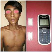 Polres Rohil Ringkus Seorang Pedagang, TKP di Jalan Lintas Bagan Batu - Pujud