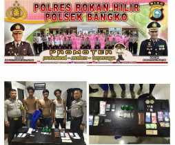 Dari Rumah Kontrakan Ditemukan Narkotika Jenis Sabu, Tiga Orang Dibawa ke Polsek Bangko