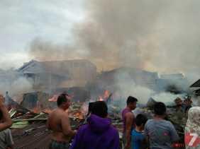 Minggu Pagi, Limabelas Rumah Hangus Terbakar di Kampung Dalam, Kota Pekanbaru