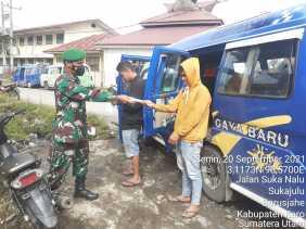 Komsos, Babinsa Koramil 01/BJ Kembali Ingatkan Prokes Pada Warga