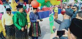 Bupati 'Lepas' Pawai Takruf MTQ Kabupaten Siak di Desa Tualang Barat