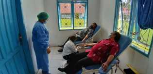 Setda Kabupaten Karo Ajak Rutin Donor Darah Untuk Jaga Kesehatan