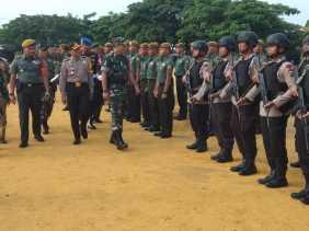 Ini Rangkaian Gelar Pasukan Dalam Rangka Pam VVIP Presiden Jokowi di Rohil