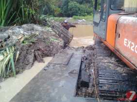 Normalisasi Sungai Batang Napuh oleh PT.Musim Mas Dilaporkan ke DLH Pelalawan