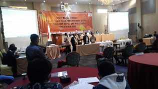 KPU Karo Gelar Rapat Pleno Penghitungan Suara Pilkada 2020 di Hotel Sinabung Internasional